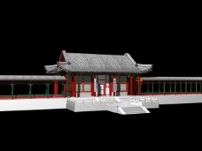 中国风古长廊建筑
