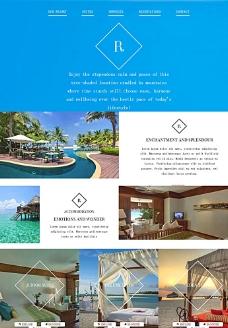 五星级酒店网页模板图片
