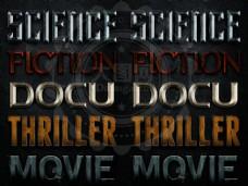 5款金属质感的电影字体PS样式V2