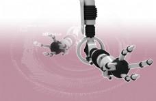 机器手臂与漩涡创意PSD分层素材