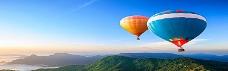 唯美热气球淘宝海报背景