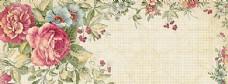 牡丹油画中国古典风背景banner