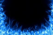 梦幻火焰背景边框