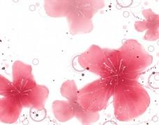 唯美粉色海报背景