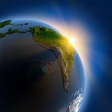太阳地球光线阳光美丽背景