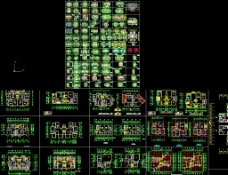 建筑百余种住宅户形平面CAD图片