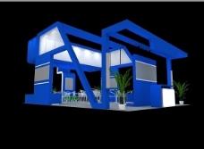 蓝色背景公司效果图设计
