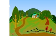 乡间风景动画素材