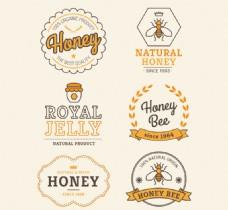 创意蜂蜜标签矢量素材下载