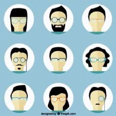 戴眼镜的人头像