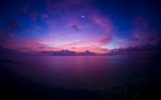 唯美夜空紫色调背景高清图片壁纸