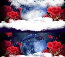 浪漫情人节高端海报背景图片