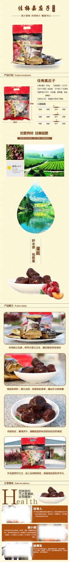 嘉应子 食品淘宝详情页
