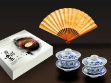水墨风格普洱茶茶叶包装设计psd素材