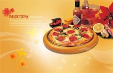 披萨餐饮食品广告psd素材