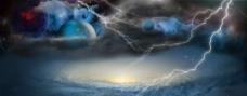 淘宝海报背景宇宙星云图