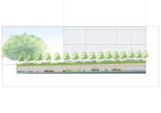 福建农林大学下安区水沟改造立面图