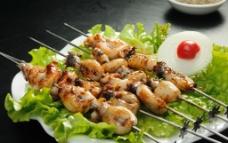 烤墨斗鱼图片