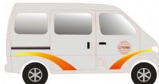 車身 長安之星 面包車 矢量圖片