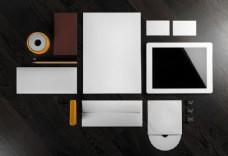 平板电脑与空白VI摄影