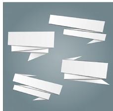 白色折纸矢量标签图片