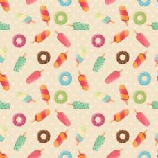 冰淇淋背景卡通图案