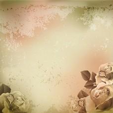 欧式花卉底纹背景图片