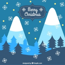 圣诞节下雪的背景