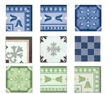 清新瓷砖纹理贴图