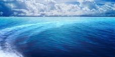 唯美蓝色海洋背景图psd分层素材