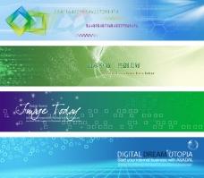 科技企业网站banner设计psd素材
