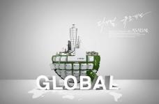 韩版高清全球商务海报模板PSD分层下载