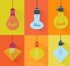 彩色灯泡设计图片