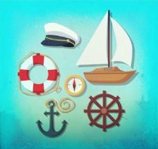 创意航海元素矢量