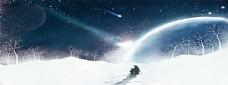 唯美雪地背景