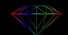 线框钻石带分层图片