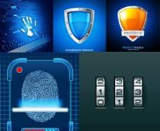 网络安全矢量素材