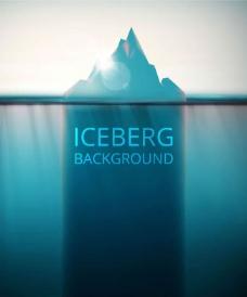 冰川背景矢量素材