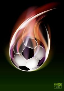 火焰足球背景矢量素材