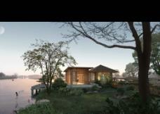 湖畔小屋图片