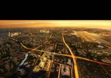 城市鸟瞰图片