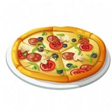 披萨美食矢量素材图片