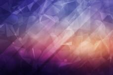 酷炫 晶格化 抽象几何体海报背景