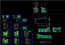 天山茶城装饰图CAD图纸