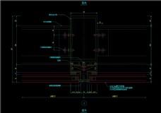 隐框幕墙横剖节点图CAD图纸