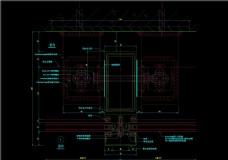 竖明横隐幕墙连接件横剖节点CAD图纸