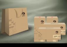 大红袍茶叶礼盒包装效果图PSD素材