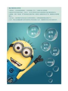 潜在管理特质企业文化海报psd素材