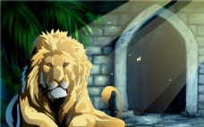 休息中的狮子flash动画