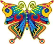 五颜六色的的蝴蝶